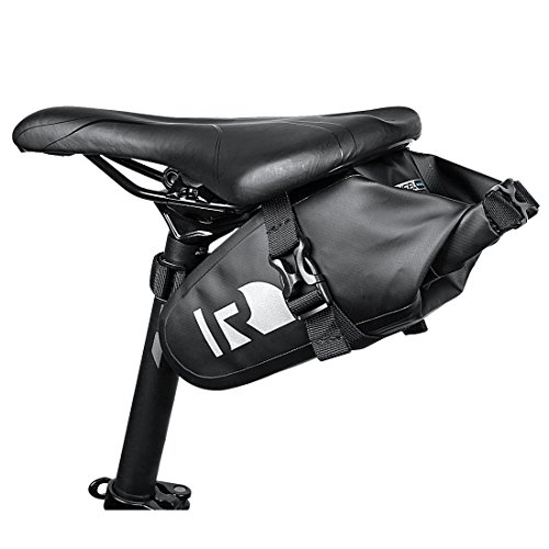 OUTON Waterproof Bicycle Saddle Bag Strap-on Bag Rainproof Mountain Road MTB Saddle Pouch Bike U ...