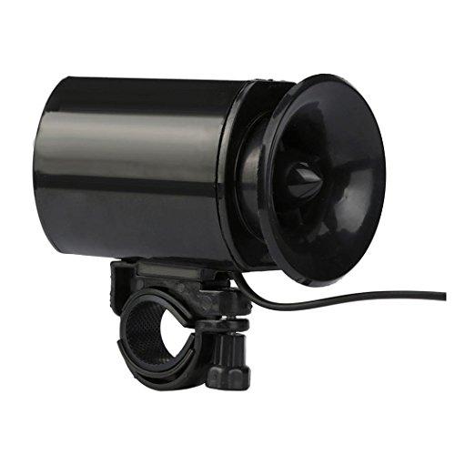 Bike Alarm Bell Horn, Inkach Ultra Loud Speaker Black Electronic Bicycle 6Sounds Alarm Bells Bik ...