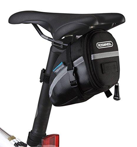 CestMall 1.2L Bicycle & MTB Cycling PU Saddle Bag, Waterproof Bike Bag Back Seat Pouch, Bic ...