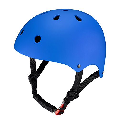 KuYou Youth Skateboarding Helmet,Ultimate Adjustable ABS Shell for Cycling /Skateboard/Scooter/  ...