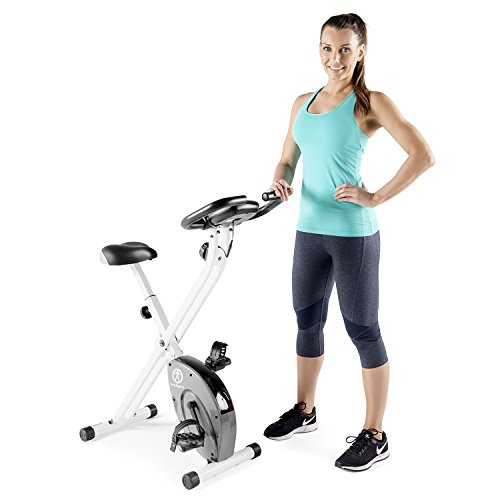Marcy Foldable Exercise Bike with Adjustable Resistance for Cardio Workout and Strength Training ...