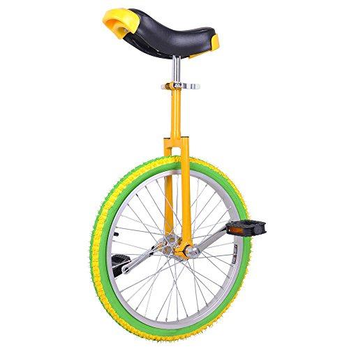 Bright Lemon 20 Inch In 20″ Mountain Bike Wheel Frame Unicycle Cycling Bike With Comfortab ...