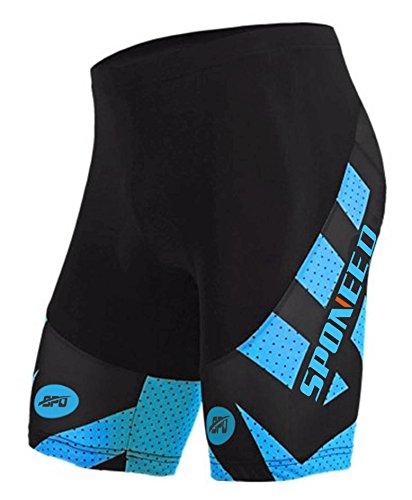 Sponeed Men's Cycling Shorts Padded Compresson Biking Short Pants Underwear 4D COOLMAX Gel ...