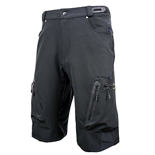 ALLY Men's Water Repellent MTB Baggy Cycling Shorts, Loose-Fit Bicycle Biking 1/2 Pants, O ...