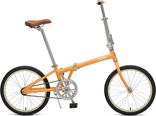 Critical Cycles 2641 Judd Folding Bike Single-Speed With Coaster Brake, Matte Saffron, 26cm/One Size