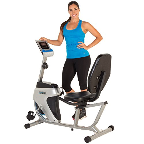 Progear 555LXT Magnetic Tension Recumbent Bike with Workout Goal Setting Computer