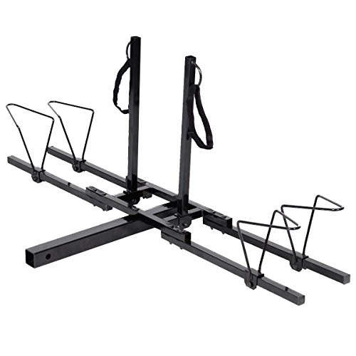 Super buy Upright Heavy Duty 2 Bike Bicycle Hitch Mount Carrier Platform Rack Truck SUV by Super buy