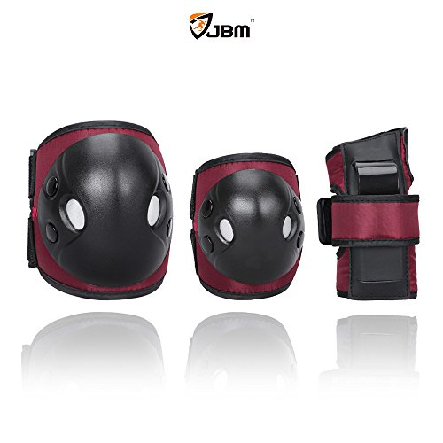 JBM Child Kids Bike Cycling Bicycle Riding Protective Gear Set, Knee and Elbow Pads with Wrist G ...