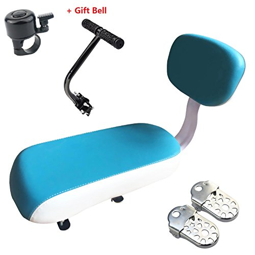 Child Bike Seat, VEY Kid Carrier Bicycle Baby Seat, Including Cushion and Backrest Handrail Foot ...