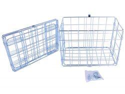 Wald 582 Rear Folding Bicycle Basket (12.75 x 7.25 x 8.5, Silver)