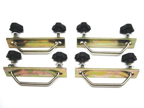 Rhino Rack Steel Mesh Basket/Tray U-bolt Fitting Kit for Rhino Aero/Thule Aero/OE Bar