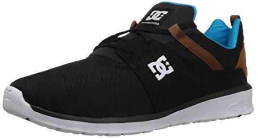 DC Men's Heathrow Skate Shoe, Black/Turquoise/White, 12 D D US