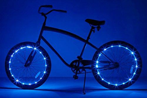 Brightz, Ltd. Wheel Brightz LED Bicycle Accessory Light (2-Pack Bundle for 2 Tires), Blue