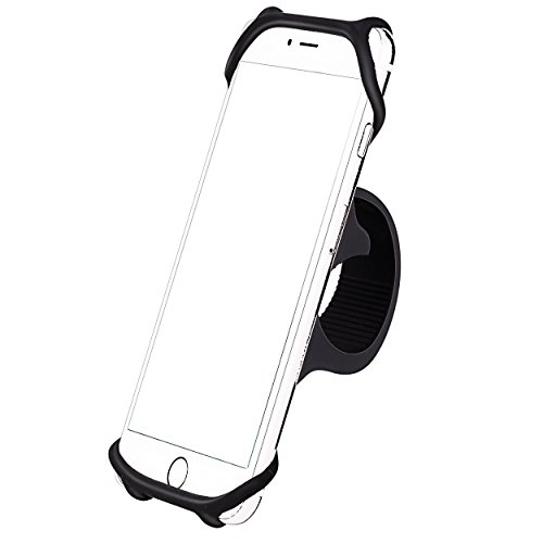 Bike Silicone Strap Mount Holder,Universal Motorcycle by Phone Mount by Ailun for iPhone X/8Plus ...