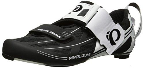 Pearl Izumi Men's Tri Fly Elite V6 Cycling-Footwear, White/Black, 48 EU/13 D US
