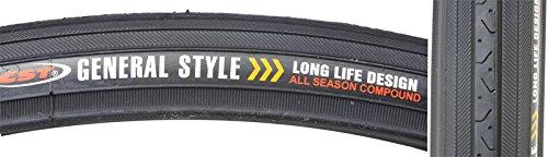 CST C638 HP Wall Wire Bike Tire, Black, 27″