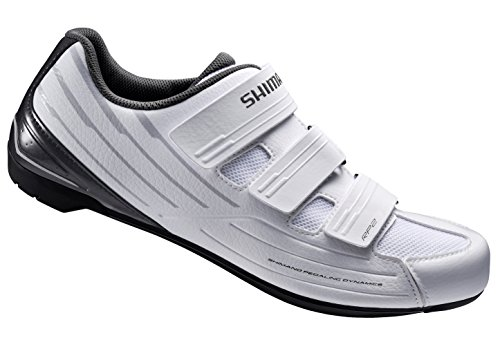 Shimano SH-RP2 Women's Touring Road Cycling Synthetic Leather Shoes, White, 40