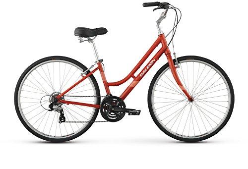 Raleigh Detour 2 Step Thru Comfort Bike, 17″ /MD Frame, Red, 17″ / Medium