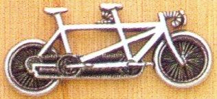 Pewter Tandem Bicycle Pin