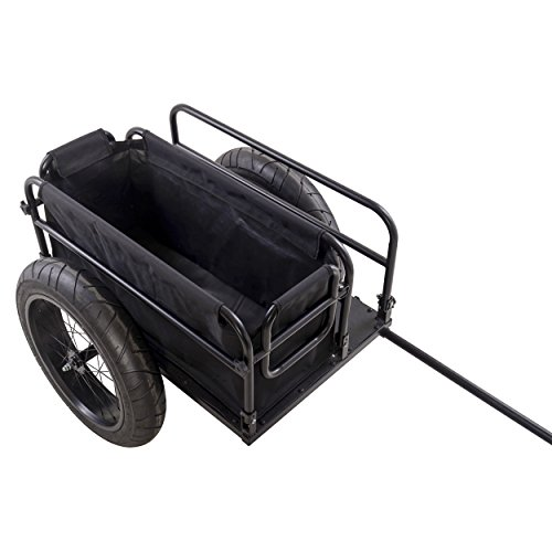 Cycle Force EV Bicycle Cargo & Surfboard Trailer with Black Cover