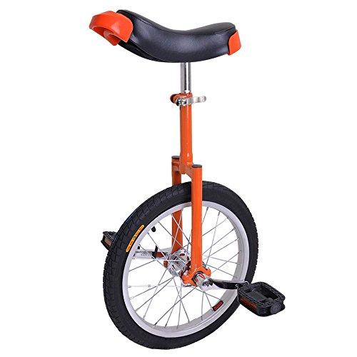 Astonishing Bright Orange 16 Inch In 16″ Mountain Bike Wheel Frame Unicycle Cycling Bike W ...