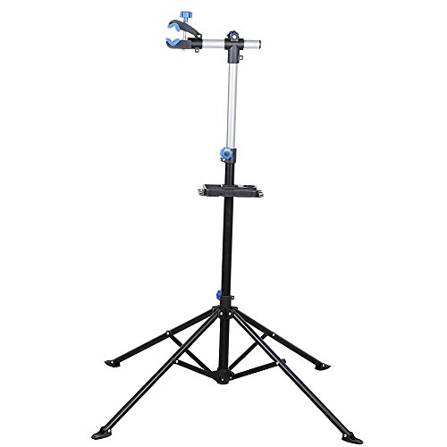 Flexzion Bike Repair Stand Rack Foldable Cycle Bicycle Workstand Home Pro Mechanic Maintenance T ...