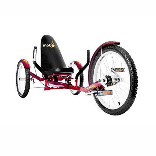 Mobo Triton Pro Recumbent Trike. Adult Beach Cruiser Tricycle for Women & Men. Petal 3-Wheel ...