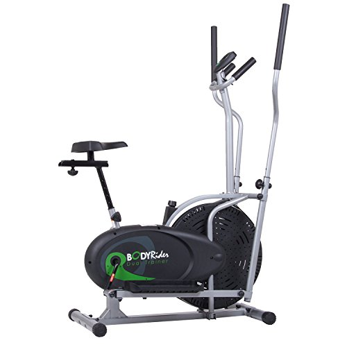 Body Rider BRD2000 Elliptical Trainer and Exercise Bike with Seat and Easy Computer / Dual Train ...