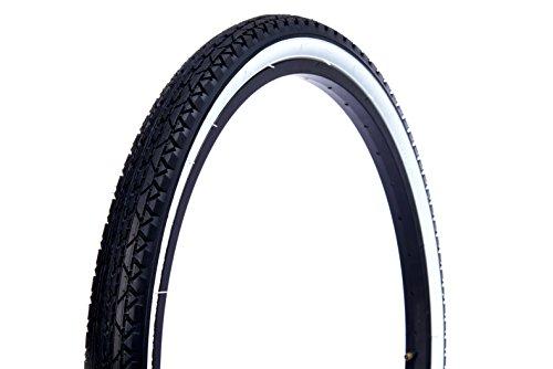 Wanda Beach Cruiser Tires, Black with White Wall, 12″/One Size