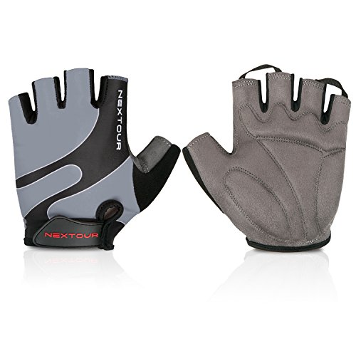Cycling Gloves Mountain Bike Gloves Half Finger Road Racing Riding Gloves with Light Anti-slip S ...