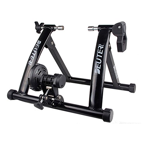DEUTER New Arrival Indoor Bike Trainer Portable Exercise Bicycle Magnetic Stand with Noise Reduc ...