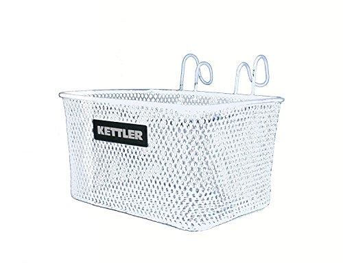 Kettler Handlebar Bike Basket Accessory, Front Mounted Handlebar Wire Storage Basket, Fits All K ...
