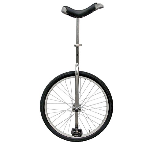 Fun 24 Inch Wheel Chrome Unicycle with Alloy Rim