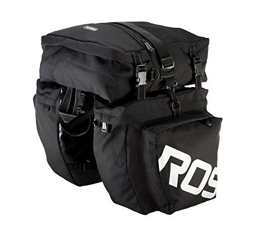 Roswheel 14892 3 in 1 Multifunction Bike Bicycle Rear Rack Panniers Back Seat Cargo Trunk – ...