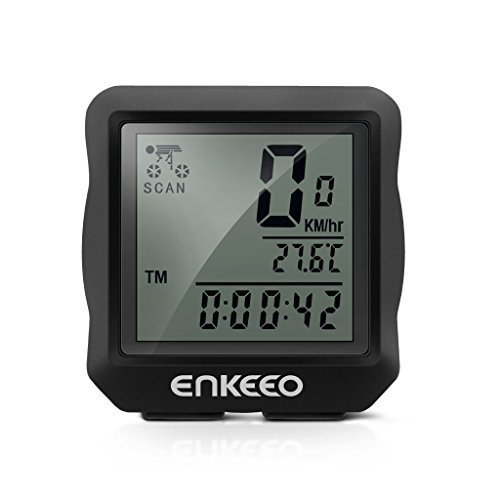 Enkeeo Wired Bike Computer Bicycle Speedometer Bike Odometer with Backlit Display, Current/AVS/M ...