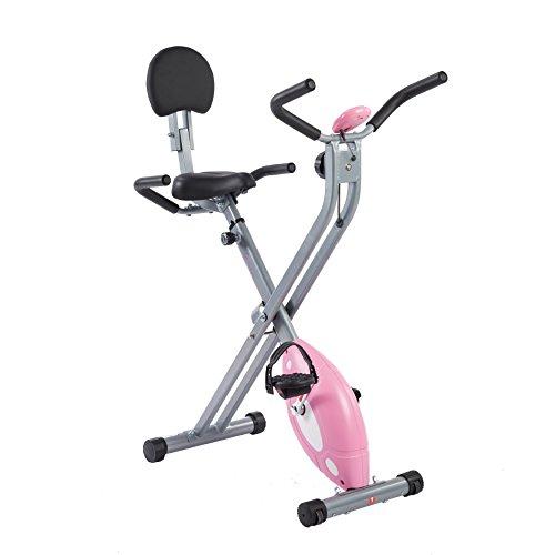 Sunny Health & Fitness Magnetic Folding Recumbent Bike Exercise Bike, 220lb Capacity – ...
