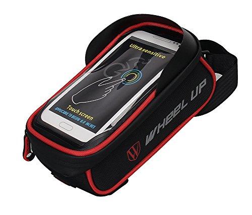 Bike Bag, WATERFLY Frame Bike Bag with Waterproof Touch Screen Bicycle Handbar Front Phone Holde ...