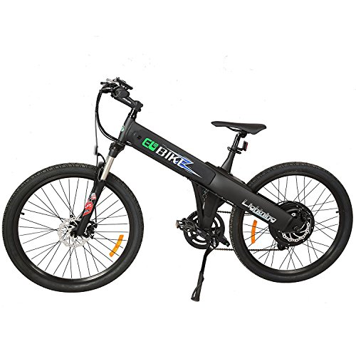 New Electric Bike Matt Black Electric Bicycle Mountain 500w Lithium Battery City Ebike