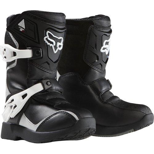 Fox Racing Pee Wee Comp 5K Youth Boys Off-Road/Dirt Bike Motorcycle Boots – Black/Silver / ...