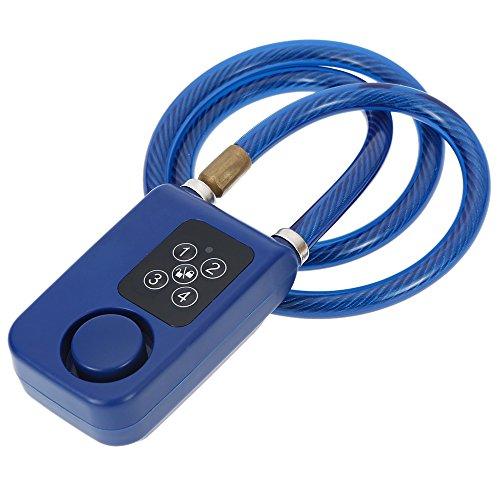 ANTUSI Password Keyless Lock wire rope Smart Electronic anti Theft Alarm ,110dB Alarm Bicycle W ...