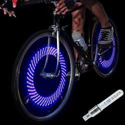 DAWAY A08 Bike Tire Valve Stem Light – LED Waterproof Bicycle Wheel Lights Neon Flashing L ...