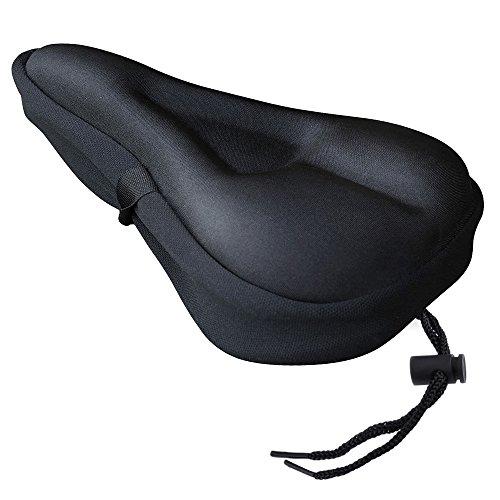 Zacro Gel Bike Seat Cover- BS031 Extra Soft Gel Bicycle Seat – Bike Saddle Cushion with Wa ...