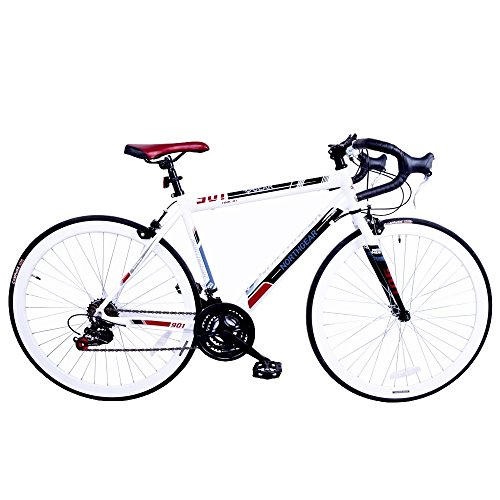North Gear 901 21 Speed Road / Racing Bike with Shimano Components – White