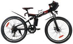 QFX Unfold & Go Electric Bike, Black, 40inch/One Size