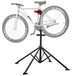 SONGMICS Pro Mechanic Bike Repair Stand with Tool Tray Telescopic Bicycle Maintenance Rack Works ...