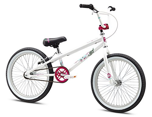 Mongoose Girl's LSX Bicycle, 20-Inch, White