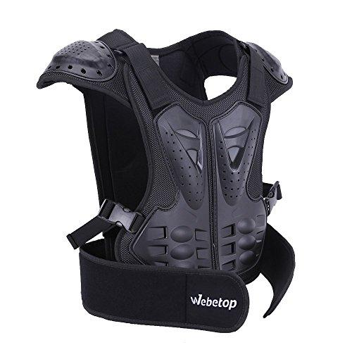 Webetop Kids Dirt Bike Body Chest Spine Protector Armor Vest Protective Gear for Dirtbike Bike M ...