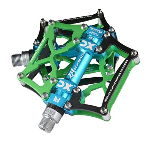 RockBros Mountain Bike Pedals Platform Cycling Sealed Bearing Alloy Flat Pedals 9/16″