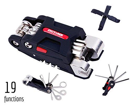 SIGTUNA Bike Tool Kit – 19-function Bike Multi Tool for Mountain Biking and Cycle Repair w ...