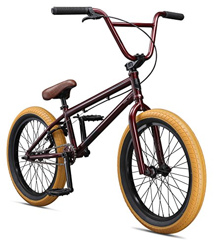 Mongoose Boys Legion L100 Bicycle, Burgundy, One Size/20″